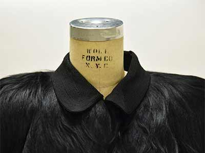a coat made from monkey fur